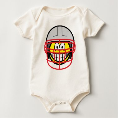 Football player smile   baby_toddler_apparel_tshirt