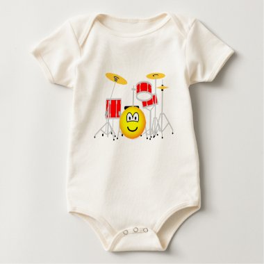 Drumkit emoticon   baby_toddler_apparel_tshirt