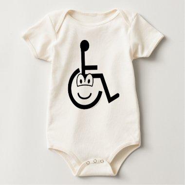 Wheelchair emoticon Sign  baby_toddler_apparel_tshirt
