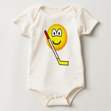 Ice hockey emoticon   baby_toddler_apparel_tshirt
