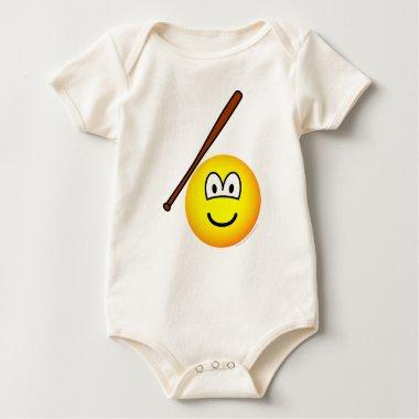 Baseballing emoticon baseball bat  baby_toddler_apparel_tshirt