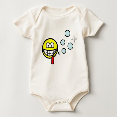Bubble blowing smile   baby_toddler_apparel_tshirt