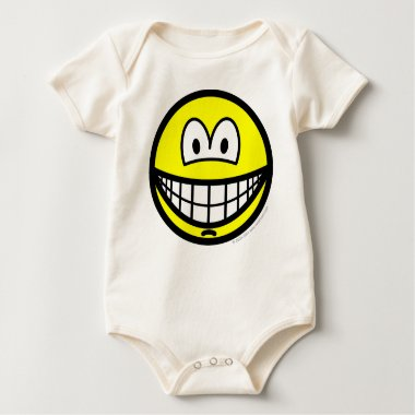 Chin dimple smile   baby_toddler_apparel_tshirt