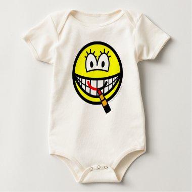 Lipstick smile   baby_toddler_apparel_tshirt