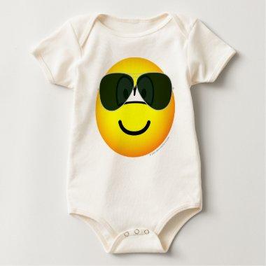 Aviators emoticon Sunglasses   baby_toddler_apparel_tshirt