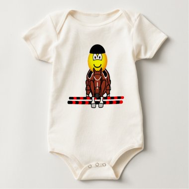 Horse show jumping emoticon Olympic sport Equestrian baby_toddler_apparel_tshirt