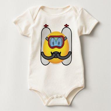 Scubadive emoticon   baby_toddler_apparel_tshirt