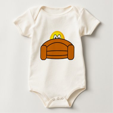Bange emoticon Achter de bank  baby_toddler_apparel_tshirt