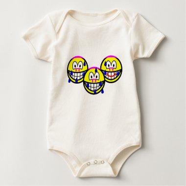 Synchronized swimming smile Olympic sport Aquatics baby_toddler_apparel_tshirt