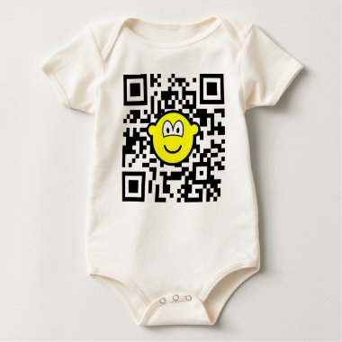 Qr Code buddy icon 2D barcode  baby_toddler_apparel_tshirt