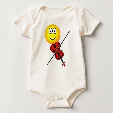Violin playing emoticon   baby_toddler_apparel_tshirt