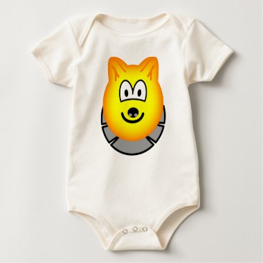 Wolf emoticon   baby_toddler_apparel_tshirt