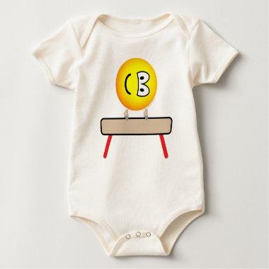Pommel horse emoticon Olympic sport Artistic gymnastics baby_toddler_apparel_tshirt