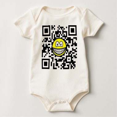 Qr Code smile 2D barcode  baby_toddler_apparel_tshirt
