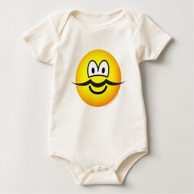 Mustache emoticon   baby_toddler_apparel_tshirt