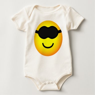 Sleeping mask emoticon   baby_toddler_apparel_tshirt