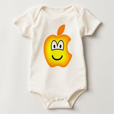 Apple logo emoticon   baby_toddler_apparel_tshirt