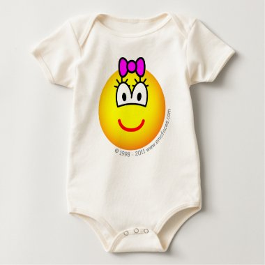 Baby girl emoticon   baby_toddler_apparel_tshirt