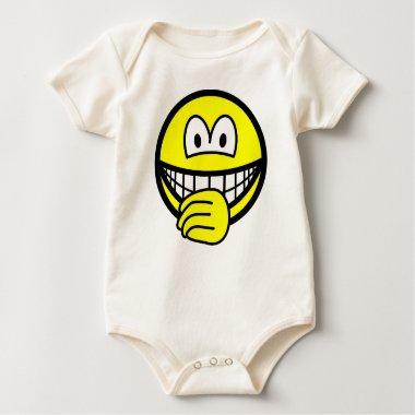 Thumb sucking smile   baby_toddler_apparel_tshirt