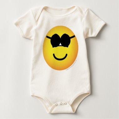 Sunglasses emoticon Round  baby_toddler_apparel_tshirt