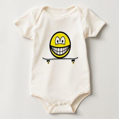 Skateboarding smile   baby_toddler_apparel_tshirt