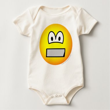 Duct taped mouth emoticon   baby_toddler_apparel_tshirt