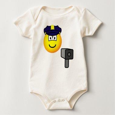 Lazer gun cop emoticon   baby_toddler_apparel_tshirt