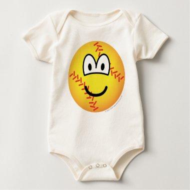Baseball emoticon   baby_toddler_apparel_tshirt