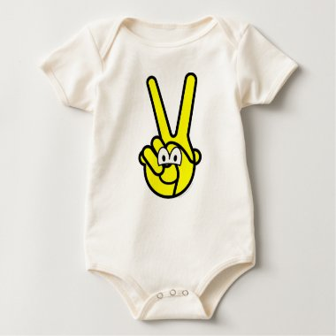 Peace sign buddy icon   baby_toddler_apparel_tshirt