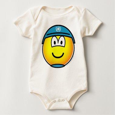 UN soldier emoticon   baby_toddler_apparel_tshirt