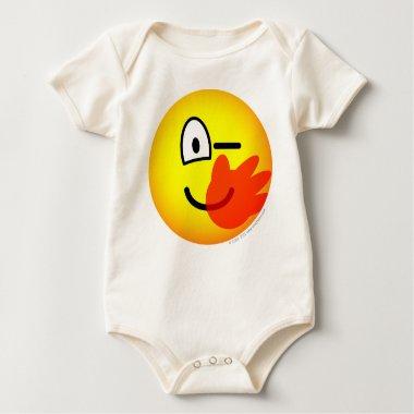 Slap emoticon slapped  baby_toddler_apparel_tshirt