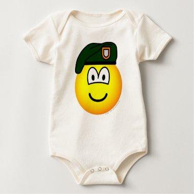 Green beret emoticon   baby_toddler_apparel_tshirt