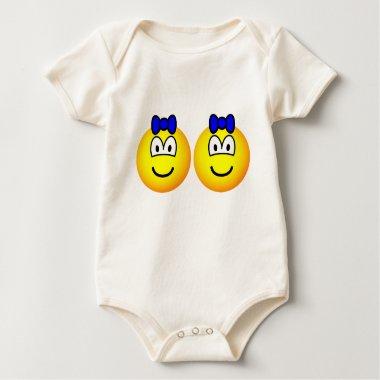 Identical twin emoticon Boys  baby_toddler_apparel_tshirt