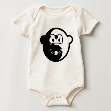 Ying Yang buddy icon [Black/Yellow]  baby_toddler_apparel_tshirt