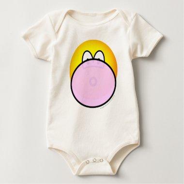 Bubble gum emoticon   baby_toddler_apparel_tshirt