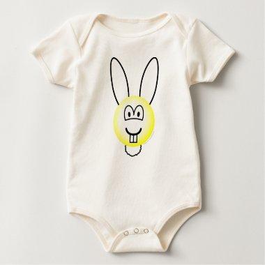 Albino rabbit emoticon   baby_toddler_apparel_tshirt