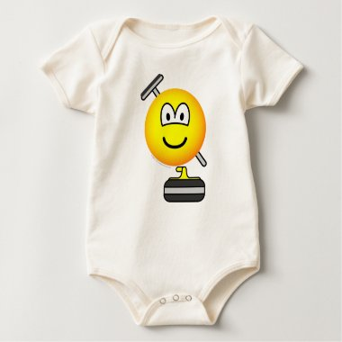 Curling emoticon   baby_toddler_apparel_tshirt