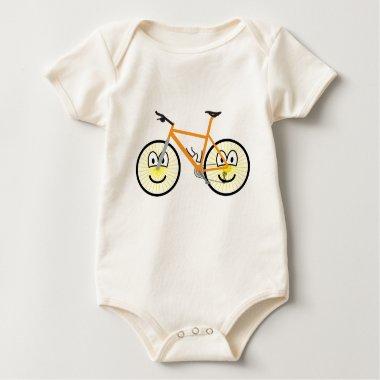 Mountain bike emoticon   baby_toddler_apparel_tshirt