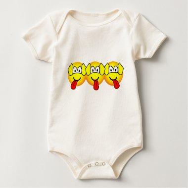 Three headed dog emoticon Harry Potter  baby_toddler_apparel_tshirt
