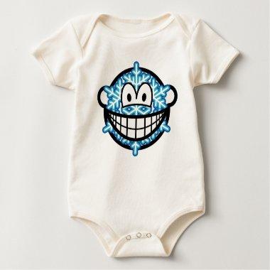 Snowflake smile   baby_toddler_apparel_tshirt