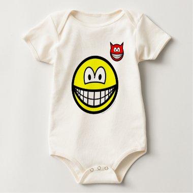 Devil on shoulder smile   baby_toddler_apparel_tshirt
