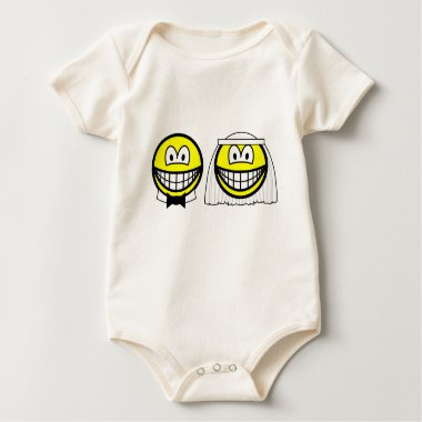 Married smile bride and groom  baby_toddler_apparel_tshirt