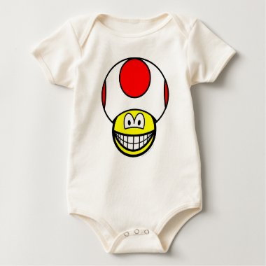 Toad smile video game  baby_toddler_apparel_tshirt