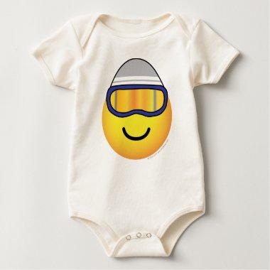 Skier emoticon   baby_toddler_apparel_tshirt