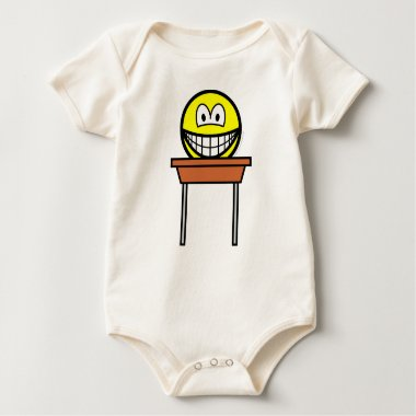 School desk smile   baby_toddler_apparel_tshirt