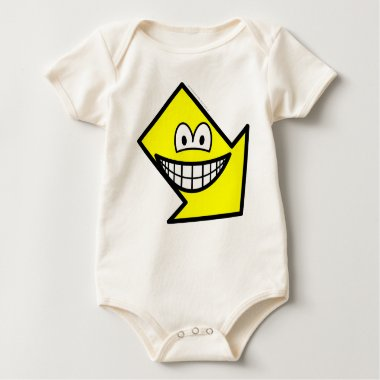 Down right smile arrow  baby_toddler_apparel_tshirt