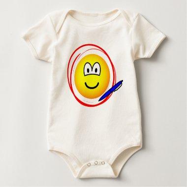 Circled emoticon Marked  baby_toddler_apparel_tshirt