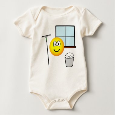 Window cleaner emoticon   baby_toddler_apparel_tshirt
