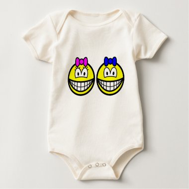 Twins smile   baby_toddler_apparel_tshirt