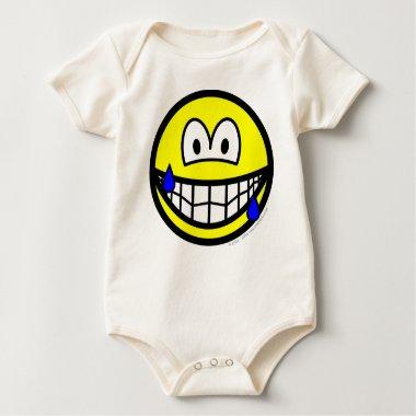 Nervous smile Sweating  baby_toddler_apparel_tshirt